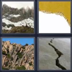 siete letras cartón roto montaña