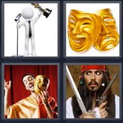 4 fotos 1 palabra máscara