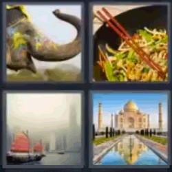 4 fotos 1 palabra Taj Mahal