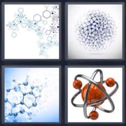 4 fotos 1 palabra partículas o átomos