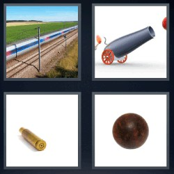 4 fotos 1 palabra cañon