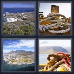 4 fotos 1 palabra paisaje cuerda