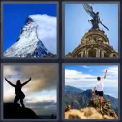 4 fotos 1 palabra montaña nevada