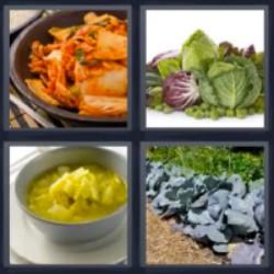 4 fotos 1 palabra lechuga comida