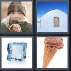 4 fotos 1 palabra cubito de hielo