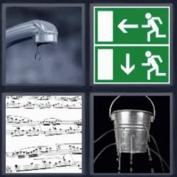 4 fotos 1 palabra grifo notas musicales