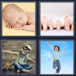 4 fotos 1 palabra niño aviador