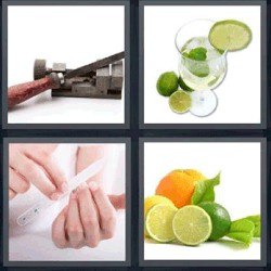 4 fotos 1 palabra limones