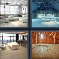 4 fotos 1 palabra casa vacía salón