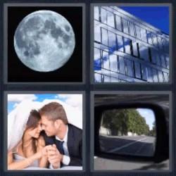 4 fotos 1 palabra luna espejo