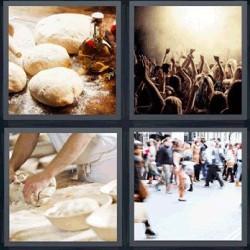 4 fotos 1 palabra amasando pan concierto