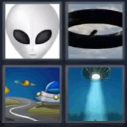 4 fotos 1 palabra extraterrestre
