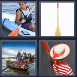 4 fotos una palabra barca