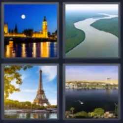 tres letras castillo iluminado Torre Eiffel