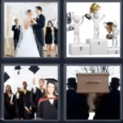 4 fotos 1 palabra boda entierro