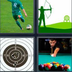 4 fotos 1 palabra diana billar