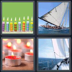 4 fotos 1 palabra barco de vela