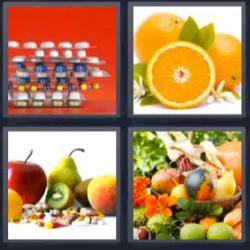 Soluciones 8 letras pastillas naranjas fruta