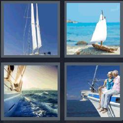 4 fotos 1 palabra barcos