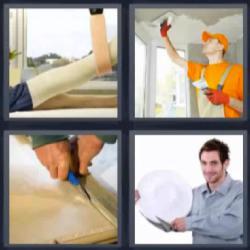 4 fotos 1 palabra pierna enyesada