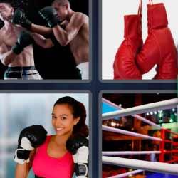 4 fotos 1 palabra boxeadores