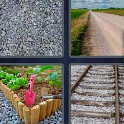4 fotos 1 palabra vías de tren carretera
