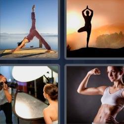 4 fotos 1 palabra yoga
