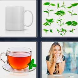 4 fotos 1 palabra taza o tazón
