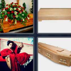 4 fotos 1 palabra tumbas sarcófago ataud