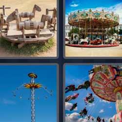 4 fotos 1 palabra tiovivo feria