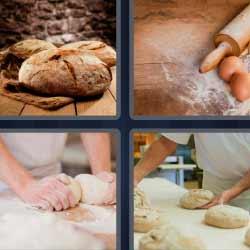 4 fotos 1 palabra masa pan harina