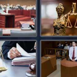 4 fotos 1 palabra juez balanza