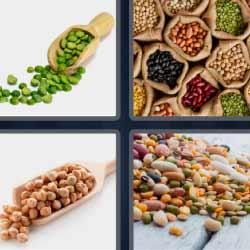 4 fotos 1 palabra guisantes frutos secos