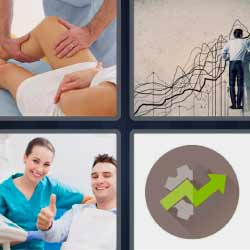 4 fotos 1 palabra fisioterapia flecha verde
