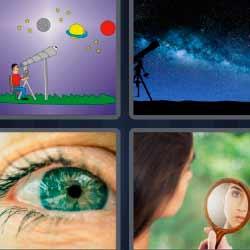 4 fotos 1 palabra ojo espejo