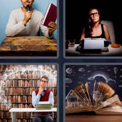 4 fotos 1 palabra biblioteca libros