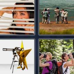 4 fotos 1 palabra persiana prismáticos