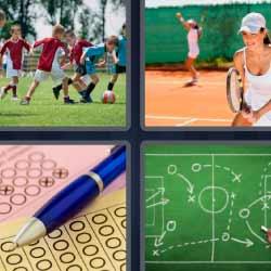 4 fotos 1 palabra bolígrafo tenistas fútbol