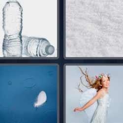 4 fotos 1 palabra botellas de agua