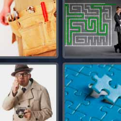 4 fotos 1 palabra puzzle laberinto detective