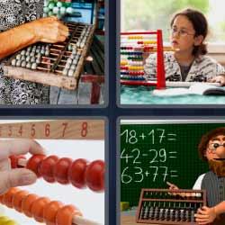 4 fotos 1 palabra tablero bolitas profesor matemáticas