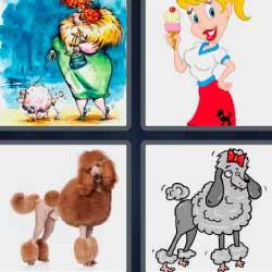 4 fotos 1 palabra perros dibujo