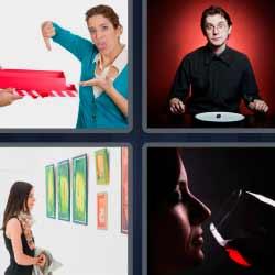 4 fotos 1 palabra cuadros copa de vino
