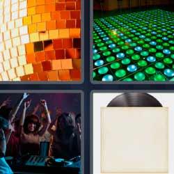 4 fotos 1 palabra disco de vinilo lámpara de espejos