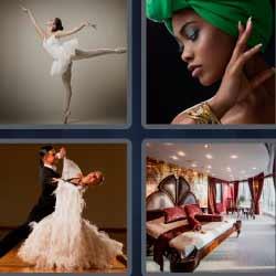 4fotos 1palabra bailarina dormitorio