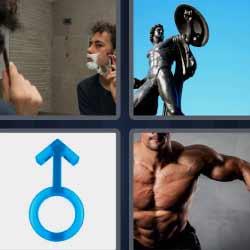 4fotos 1palabra hombre afeitándose