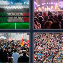 4 fotos 1 palabra estadio concierto