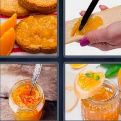 4fotos 1palabra tostadas con dulce naranja