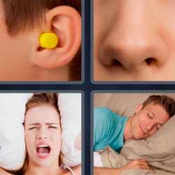 4fotos 1palabra tapón de oído nariz