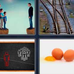 4fotos1palabra huevos vías de tren